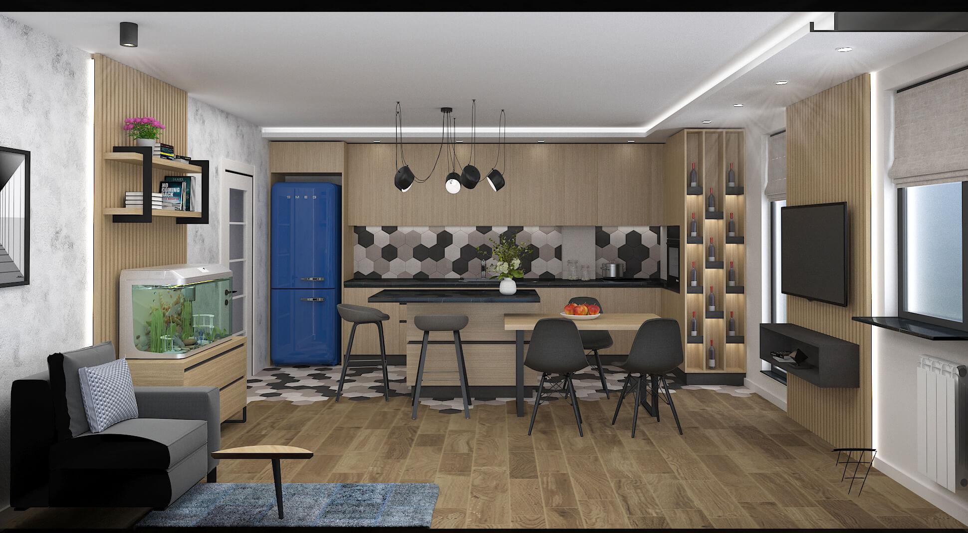Проект на дневна и тийнейджърска <br>стая в апартамент <br> гр. София