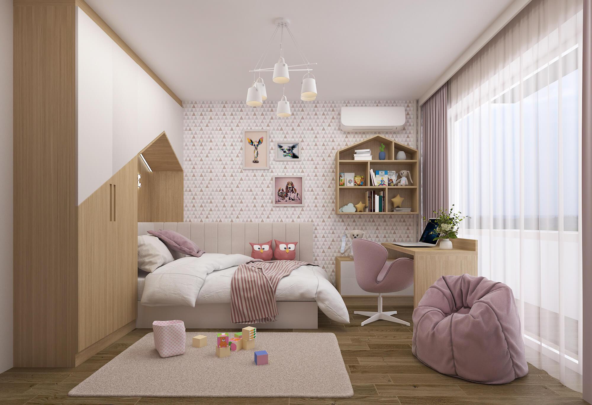 Проект и реализация на <br> момичешка детска стая <br> гр. София