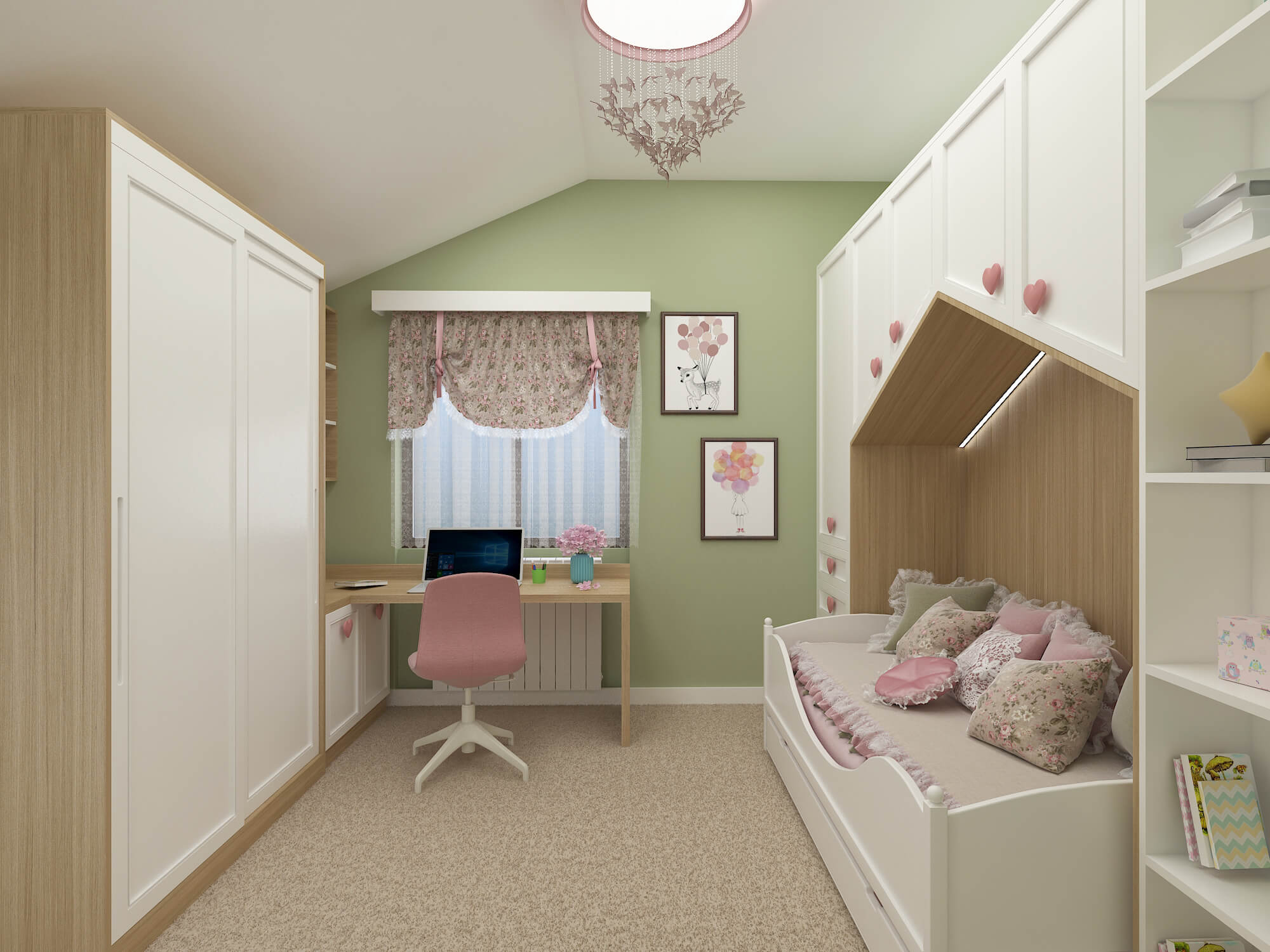 Проект на момичешка стая <br> гр. София