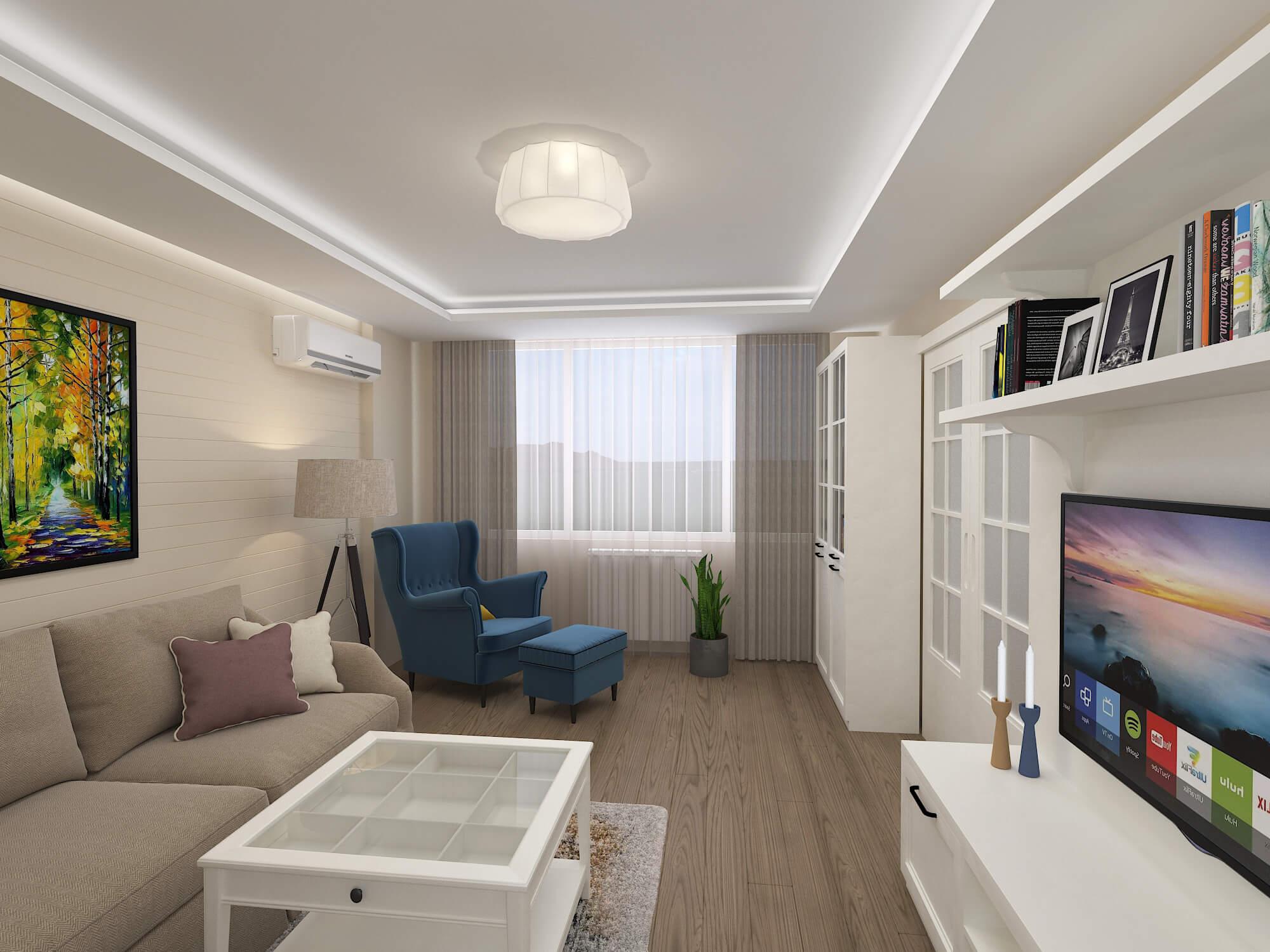 Проект на дневна трапезария <br>и кухня в апартамент <br>гр. София